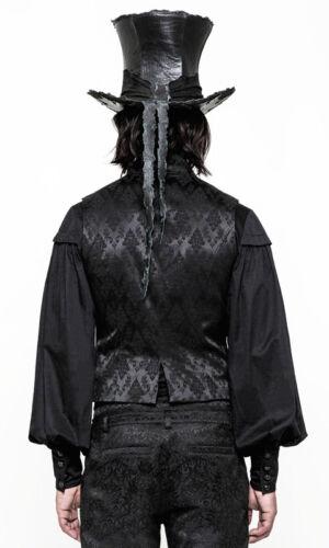 Barock Weste Jacke Gothic Dandy Brokat Victorian Stickerei Punkrave Herren Schwa