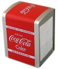 Retro Coca Cola Servilleta Dispensador Coke Servilletero De Almacenamiento Estaño Soporte De Tejido 64MustangIndiPaceCar