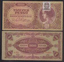 HUNGARY 10.000 Pengo 1945 Banknote Very Fine UNGHERIA Banconota Molto Bella