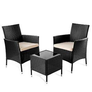 Set de muebles jardin modelo trento 3pc de mimbre mesita+sillas plegable -Mchaus
