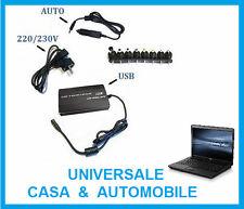 Caricabatterie alimentatore universale PC notebook auto e casa. 19,20,22,24 V