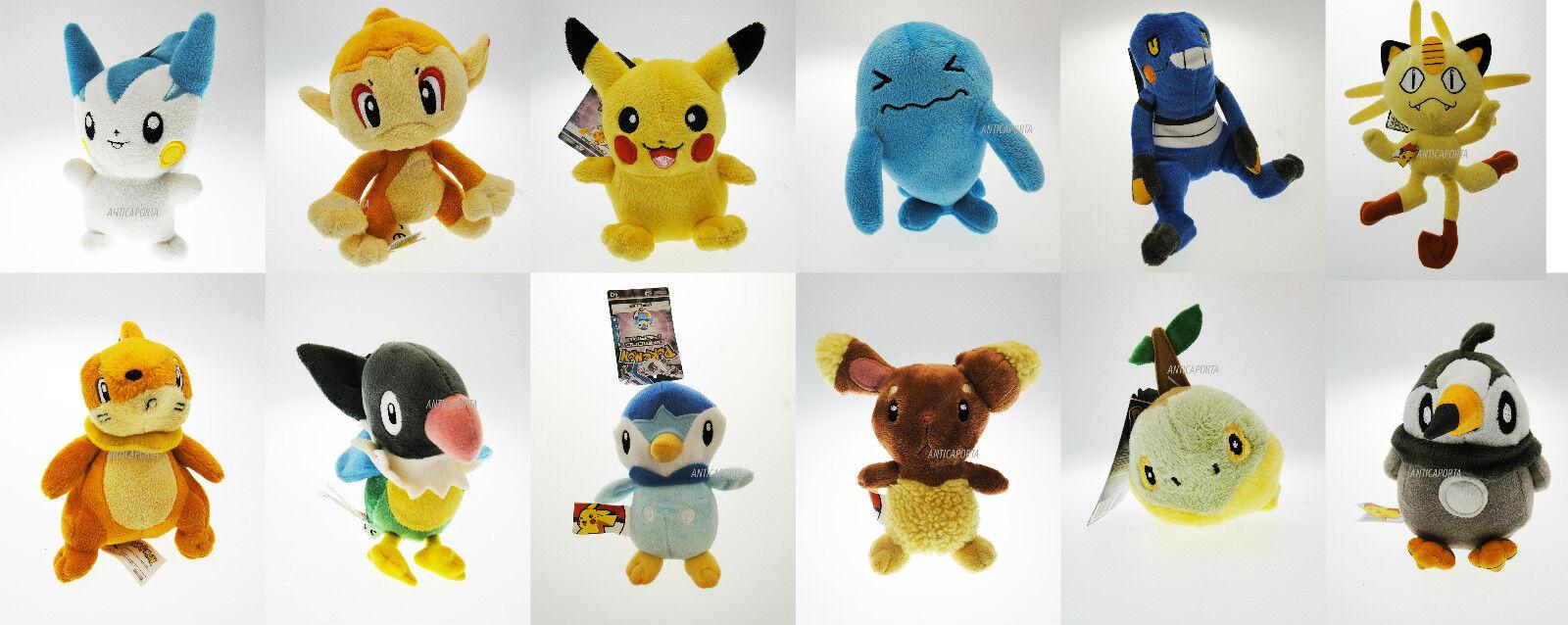 Peluche Pokemon Go Originaux Velours 4^ génération Flora De Pikachu 12 types