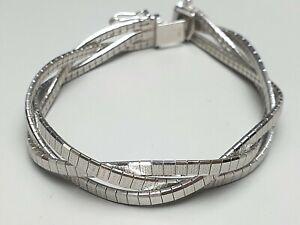 Breites-Vintage-Flecht-Armband-punziert-835-034-EF-034-82-diamantierte-Schliffe-A673