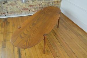 Image Is Loading Mid Century Danish Modern Surfboard Coffee Table Hans