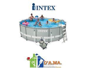 Piscina intex fuoriterra ultraframe 488x122h pompa a - Accessori piscine intex ...