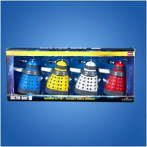 Doctor-Who-2-25-034-Dalek-Set-of-4-Christmas-Ornaments-NEW-In-Box-xmas-dr-who