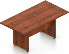 8 Ft Contemporary Rectangular Conference Room Table In American Dark Cherry