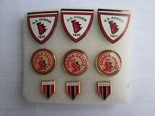 lotto 9 pins lot US FOGGIA FC club spilla football futbol calcio pins spille