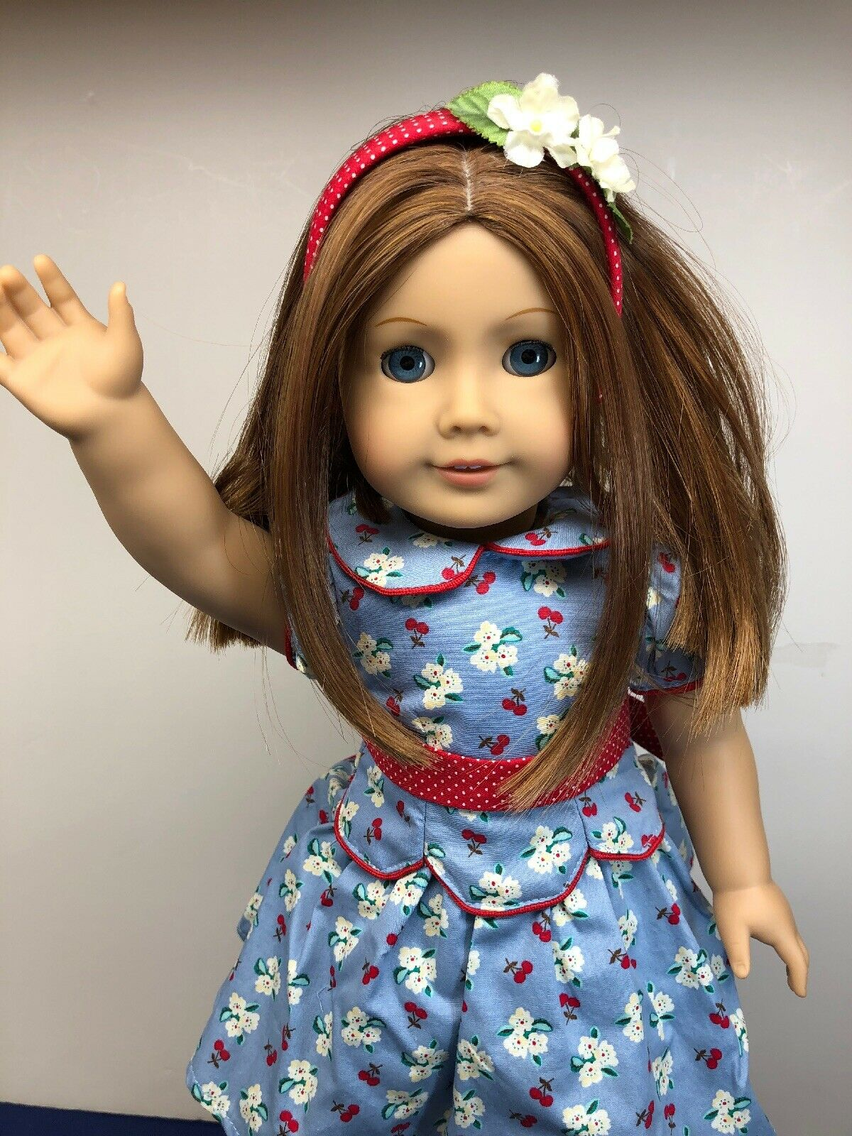 "18"" American Girl Doll ""Emily Bennet"" 1944 Adorable rothead W  Original Kleid"