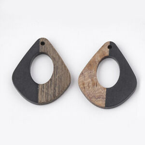 10x Undyed Flat Round Wheat Wood Big Pendants For DIY Jewelry Making 64x60x3mm