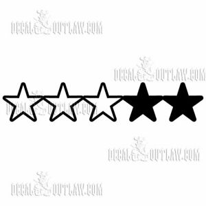 3 Star Wanted Level Gta Gta5 Grand Theft Esports Gamer Pro Vinyl Sticker Decal Ebay