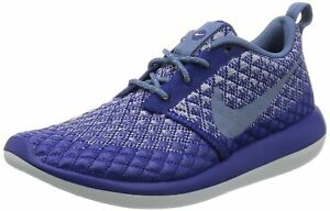 c0f5415799b02 Nike Womens Wmns Roshe Two Flyknit 365 DEEP ROYAL BLUE OCEAN FOG 6 ...