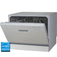 Stainless Steel Countertop Dishwasher - Portable Tabletop Dish Washer Machine