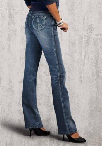 Arizona Jeans Tg 34-44 l32 Nuovo Donna Stretch Black Used Pantaloni Peace bootcut