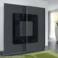 German Designed Curved 2 Door 180cm Slider Wardrobe - Free Delivery