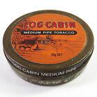 Vintage Log Cabin Medium Pipe Tobacco Tin