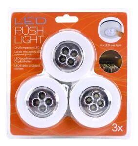 3 X Led Touch Lampe Selbstklebend Unterbau Schrank Leuchte Licht