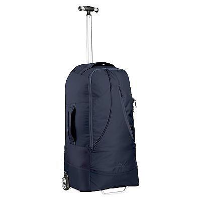 Kathmandu Lightweight Wheeled Bag Fleet Trolley Travel Luggage Storage 60L Blue