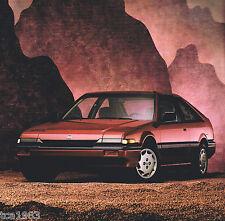 1989 HONDA Brochure/Catalog:CIVIC,ACCORD,PRELUDE,CRX,LXi,Hatchback,Wagon,Si,DX,