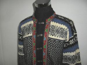 vintage-Amico-Sportswear-Norweger-Strickjacke-Jacke-hippie-norway-Wolljacke-L