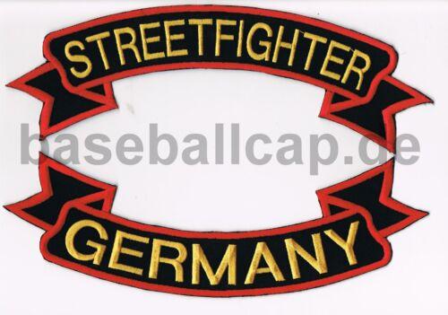 Rückenpatch Rückenaufnäher Nr.6 Streetfighter Germany 71+10 Aufnäher Patches