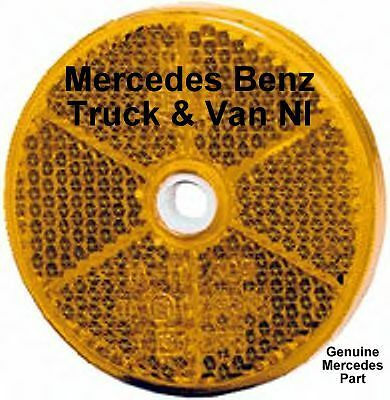 Mercedes Benz Truck & Van Round Amber Reflector,Genuine Mercedes Part,0005443505