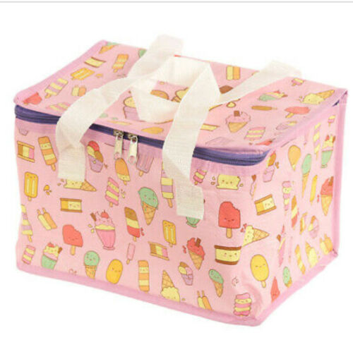 Woven Large Picnic Bag Insulated Cool Tote Food Lunch Bag School Office 19x29x20