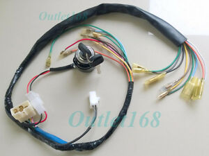 details about honda cl90 cs90 s90 wiring loom wire harness cabling set ignition switch 2 wires Honda Motorcycle Wiring Harness