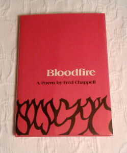 Bloodfire, Signed 1st Edition, F/F, poetry by Fred Chappell