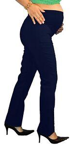 810982869e2 Details about Navy Bootcut Work Attire Womens Maternity Pants Slacks  Bottoms Blue Pregnancy