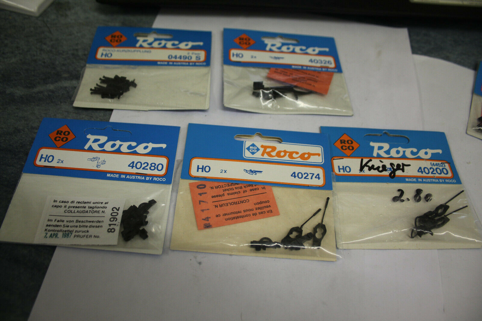Roco 4453 40201 H0 1 Paar Standard-Kupplung für 4316 OVP NEU NOS