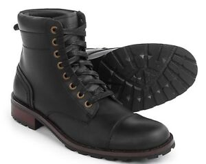 3a3cc0f2ab7 Details about Wolverine Reese Cap Toe Lace Black Boots Leather Sz 8, 8.5,  9, 11, 11.5