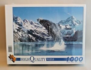 Puzzle-1000-pieces-Clementoni-High-Quality-Baleine-Whale-NEUF