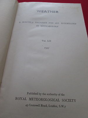 Levendig Weather: A Monthly Magazine For All Interested In Meteorology: Vol Xii 1957