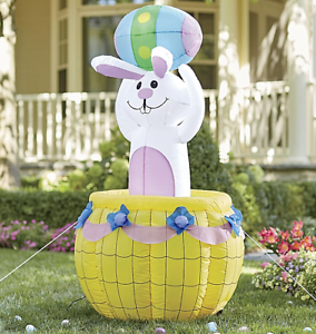 Easter Bunny Inflatable Yard Decor Outdoor Airblown Decoration Ebay