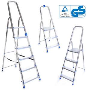 Aluleiter Klappleiter 2 6 Stufen Leiter Stehleiter Haushaltsleiter
