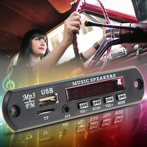 Car-MP3-WMA-Decoder-Board-12V-Audio-Module-USB-TF-AUX-FM-Radio-Remote-Control
