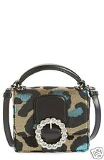 NWT Marc by Marc Jacobs Leopard Box Crossbody Bag Handbag NEW Jeweled