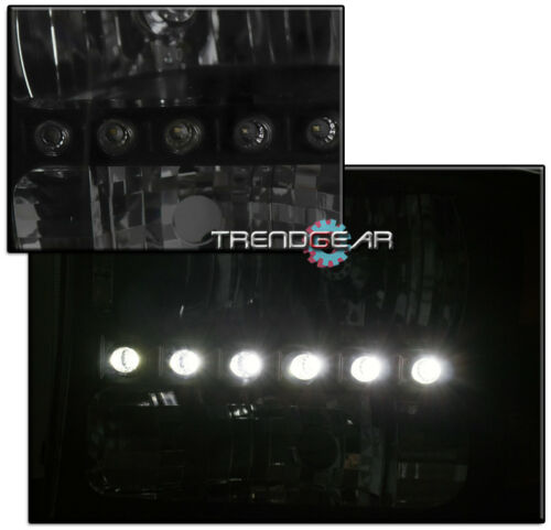 FOR 1999-2004 FORD F250 F350 SUPERDUTY LED BLACK//SMOKE HEADLIGHT W//8000K HID KIT
