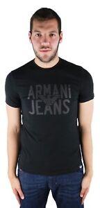 Armani Jeans Mens Logo T-Shirt 100% Genuine Black