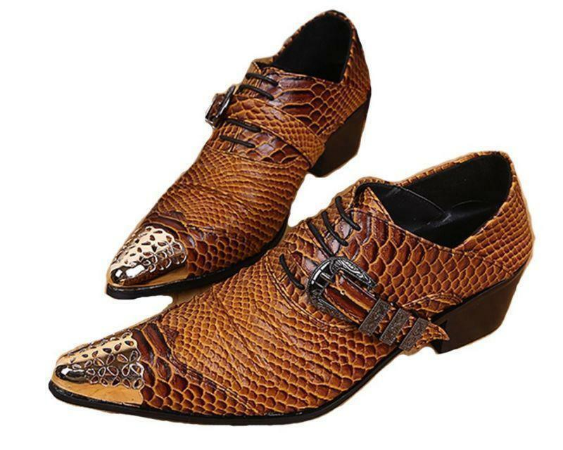US Size 5-12 Hot Dress Alligator Print Pelle Formal Office Uomo Oxford Shoes