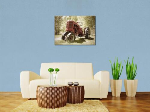 Leinwandbild Alter Traktor Panoramabild Kunstdrucke M0517