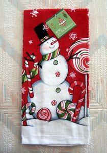 Snowman Christmas Oven Mitt Peppermint Snowman Pattern Kay Dee