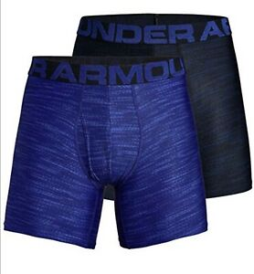 Under-Armour-Men-039-s-UA-Tech-6-Inch-Boxerjock-Print-2-Pack-Size-XXLarge-NIB