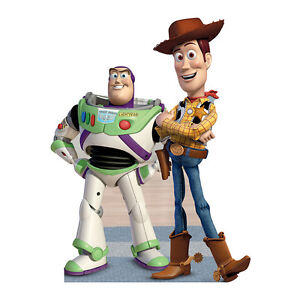 BUZZ & WOODY Toy Story Bigger Than Lifesize CARDBOARD CUTOUT Standup Standee F/S