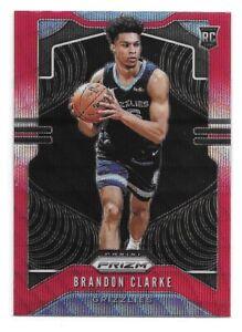Brandon-Clarke-Rookie-Card-2019-20-Prizm-Red-Wave-Prizm-266-Memphis-Grizzlies-RC