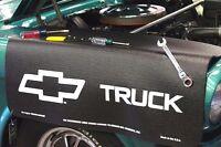 Black Chevy Truck Car Mechanics Fender Cover Paint Protector Vintage Style
