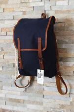 NEW LEE 101 RUCKSACK Medieval Blue Vintage Backpack Bag 80% Cotton 20%Leather