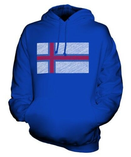 Faroe Insel Scribble Flag Unisex Kapuzenpulli Top Geschenk Føroyar Færøerne