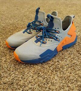 100% authentic 9891f e750e Image is loading Nike-Air-Huarache-Drift-Grey-Blue-Orange-AH7334-